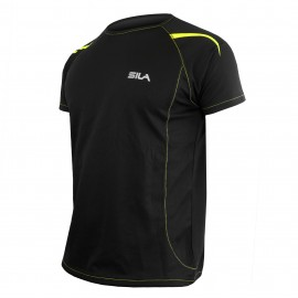 MAILLOT RUNNING - SILA PRIME NOIR - Manches courtes