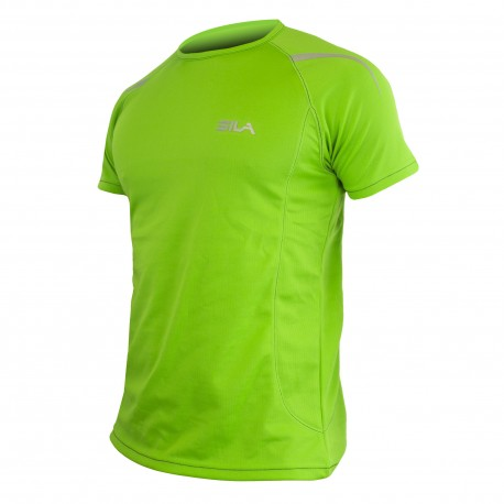 MAILLOT RUNNING - SILA PRIME VERT - Manches courtes