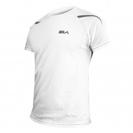 MAILLOT RUNNING - SILA PRIME BLANC - Manches courtes
