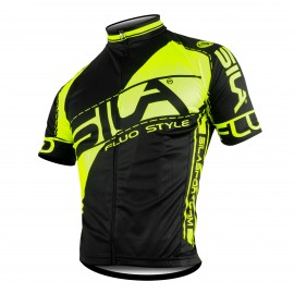 MAILLOT FLUO STYLE 3 JAUNE Manches courtes