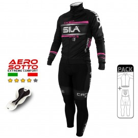 PACK HIVER Cyclisme - CARBON STYLE 2 - ROSE