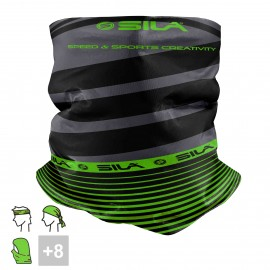 BANDANA NECK multifunction SILA - SS CREATIVITY BLACK/GREEN