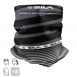 BANDANA NECK multifunction SILA - SS CREATIVITY BLACK/WHITE