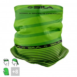 BANDANA NECK multifunction SILA - SS CREATIVITY GREEN/BLACK