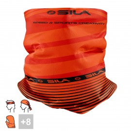 BANDANA NECK multifunction SILA - SS CREATIVITY ORANGE/BLACK