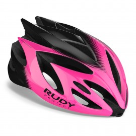 CASQUE RUDY PROJECT RUSH - ROSE / NOIR BRILLANT