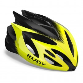 HELMET RUDY PROJECT RUSH - YELLOW FLUO / BLACK SHINY