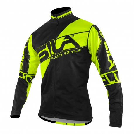 JACKET WINDSTOPPER Detachable sleeves SILA FLUO STYLE 3 YELLOW