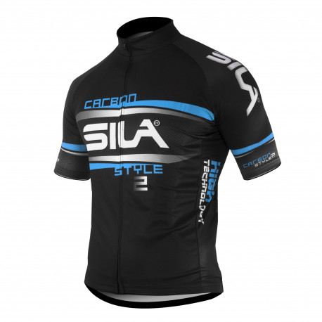 JERSEY SILA CARBON STYLE 2 BLUE-Short sleeves