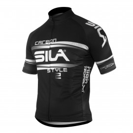 MAILLOT SILA CARBON STYLE 2 BLANC - Manches courtes