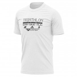 T-SHIRT SILA TRIATHLON SUPPORT - Blanc