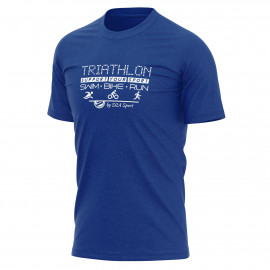 T-SHIRT SILA TRIATHLON SUPPORT - Bleu