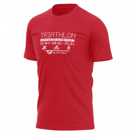 T-SHIRT SILA TRIATHLON SUPPORT - Red