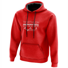 HOODIE SILA TRIATHLON SUPPORT - Red