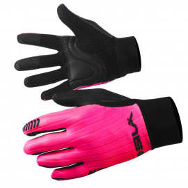 LONG GLOVES MTB SILA - PRO AERO Pink Fluo