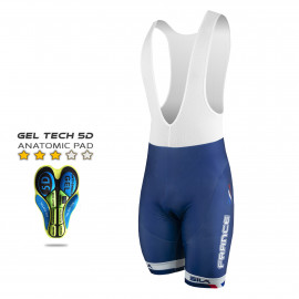 CYCLING BIB SHORT SILA NATION STYLE 2 - FRANCE
