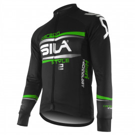 JERSEY/JACKET MID-SEASON SILA CARBON STYLE 2 GREEN-long sleeves