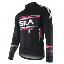 JERSEY/JACKET MID-SEASON SILA CARBON STYLE 2 PINK-long sleeves