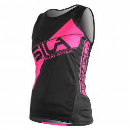 RUNNING WOMAN SLEEVELESS JERSEY SILA FLUO STYLE 3 PINK