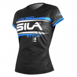 RUNNING WOMAN JERSEY SILA CARBON STYLE 2 - BLUE - Ss