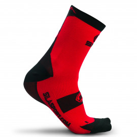 SOCKS SILA - RED / BLACK