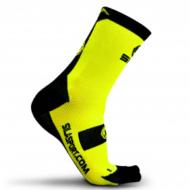 SOCKS TECHNICS SILA - FLUO YELLOW / BLACK