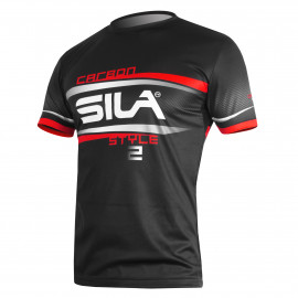 MAILLOT RUNNING HOMME - SILA CARBON STYLE 2 - ROUGE - Mc