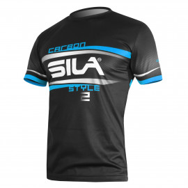 MAILLOT RUNNING HOMME - SILA CARBON STYLE 2 - BLEU - Mc