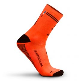MEDIUM HEIGHT SOCKS SILA RACING - FLUO ORANGE / BLACK
