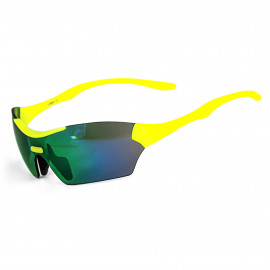 SUNGLASSES SILA TRIGO - FLUO YELLOW - GREEN IRIDIUM LENSES