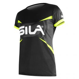 MAILLOT RUNNING FEMME - PRO ULTRALIGHT - SILA TEAM - JAUNE FLUO - Mc