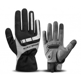 LONG GLOVES MTB ROCKBROS -THERMAL ZIP BLACK