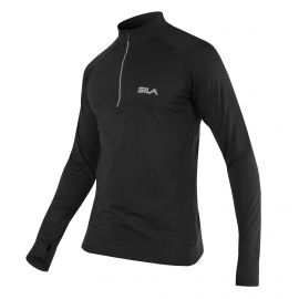 RUNNING JERSEY SILA PRIME BLACK - Long sleeves