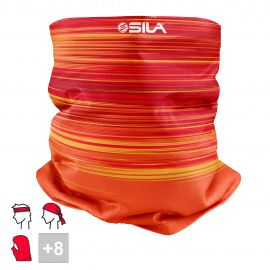 BANDANA NECK multifunction SILA - RACER Red / Orange