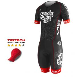 TRI SUITS PRO SILA ALOHA STYLE Black / Red - SS