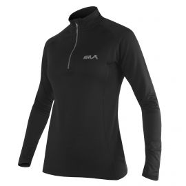 MAILLOT RUNNING FEMME - SILA PRIME NOIR - Manches longues
