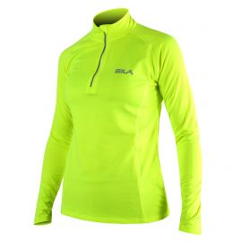 RUNNING WOMEN JERSEY SILA PRIME YELLOW FLUO - Long sleeves