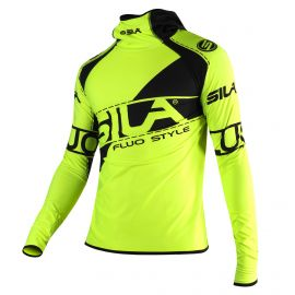RUNNING MEN JERSEY SILA FLUO STYLE 3 - Long sleeves