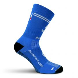 MEDIUM HEIGHT SOCKS SILA RACING - ROYAL BLUE / BLACK