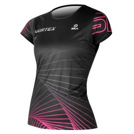 RUNNING JERSEY WOMEN VORTEX BLACK-PINK