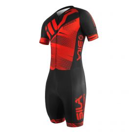 SKATING SUIT SILA FUSION RED - Short sleeves