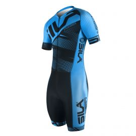 SKATING SUIT SILA FUSION BLUE - Short sleeves