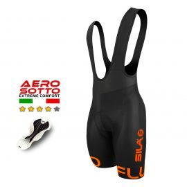 CYCLING BIB SHORT SILA FLUO STYLE 3 GREEN