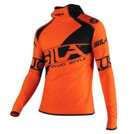 MAILLOT RUNNING HIVER - SILA FLUO STYLE 3 - ORANGE