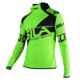 RUNNING MEN JERSEY WINTER SILA FLUO STYLE 3 GREEN