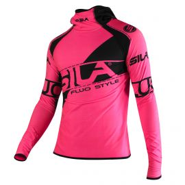 MAILLOT RUNNING HIVER - SILA FLUO STYLE 3 - ROSE