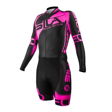 SKATING SUIT SILA FLUO STYLE 3 PINK - Long sleeves