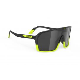 SUNGLASSES RUDY PROJECT SPINSHIELD BLACK/YELLOW NEON - SMOKE GLASSES