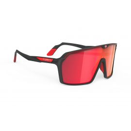 SUNGLASSES RUDY PROJECT SPINSHIELD BLACK MATTE - MULTILASER RED GLASSES