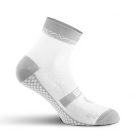 SHORT SOCKS SILA GEOMETRIC - WHITE / GREY